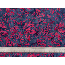 Coton Batik papillons framboise
