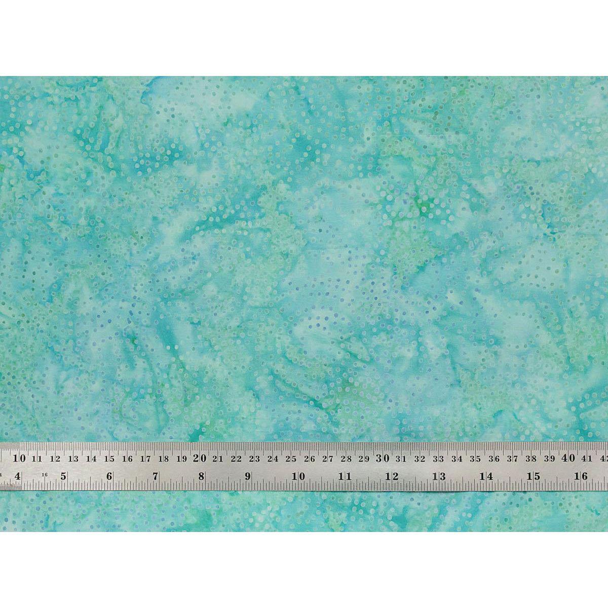 Tissu patchwork bleu vert parsemé de petits pois