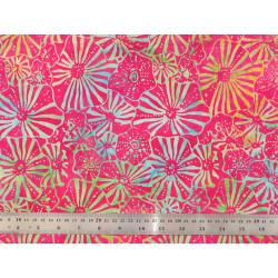 Tissu patchwork corolles multicolores