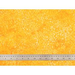 Tissu patchwork branches de Corail jaune soleil