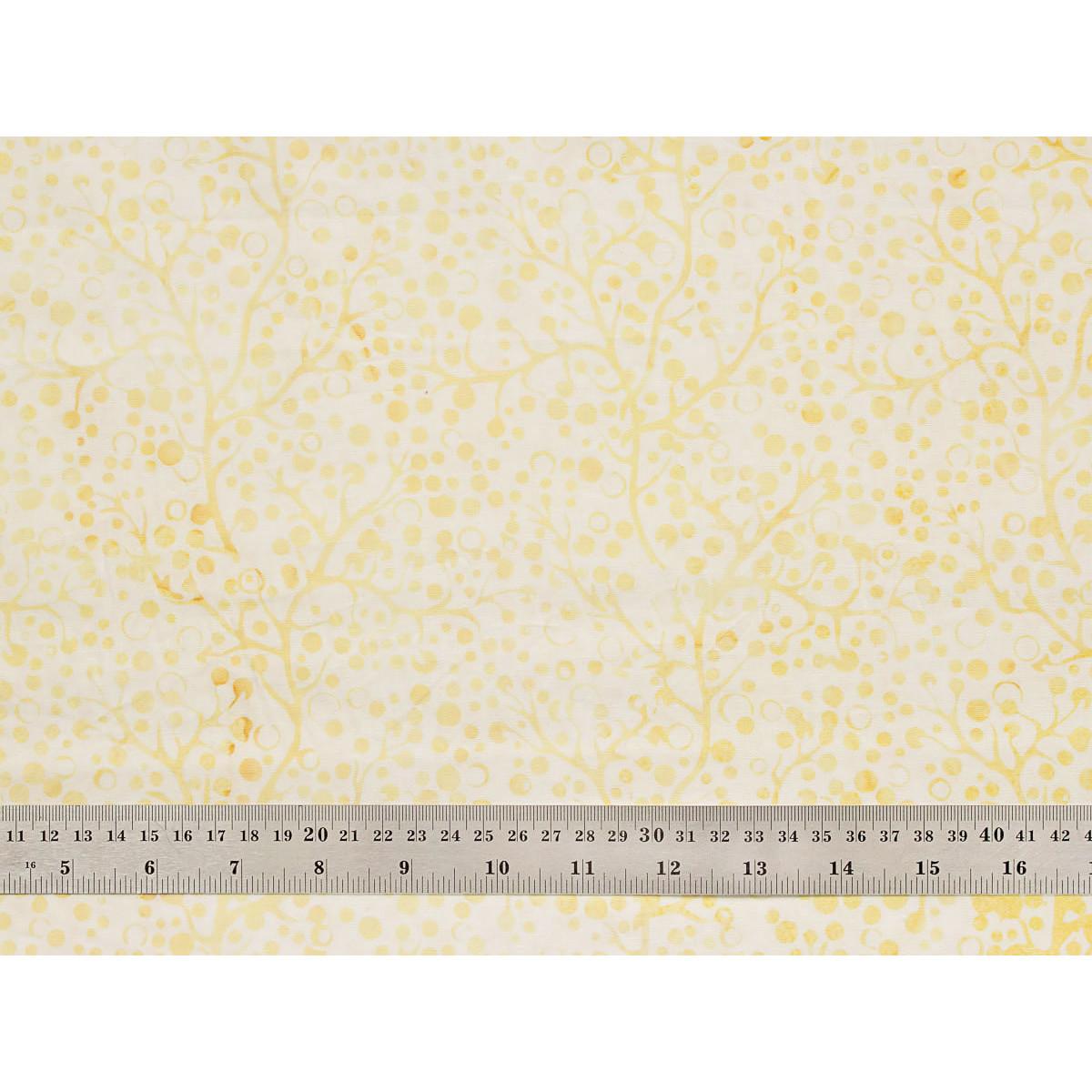 Tissu patchwork branche de corail vanille
