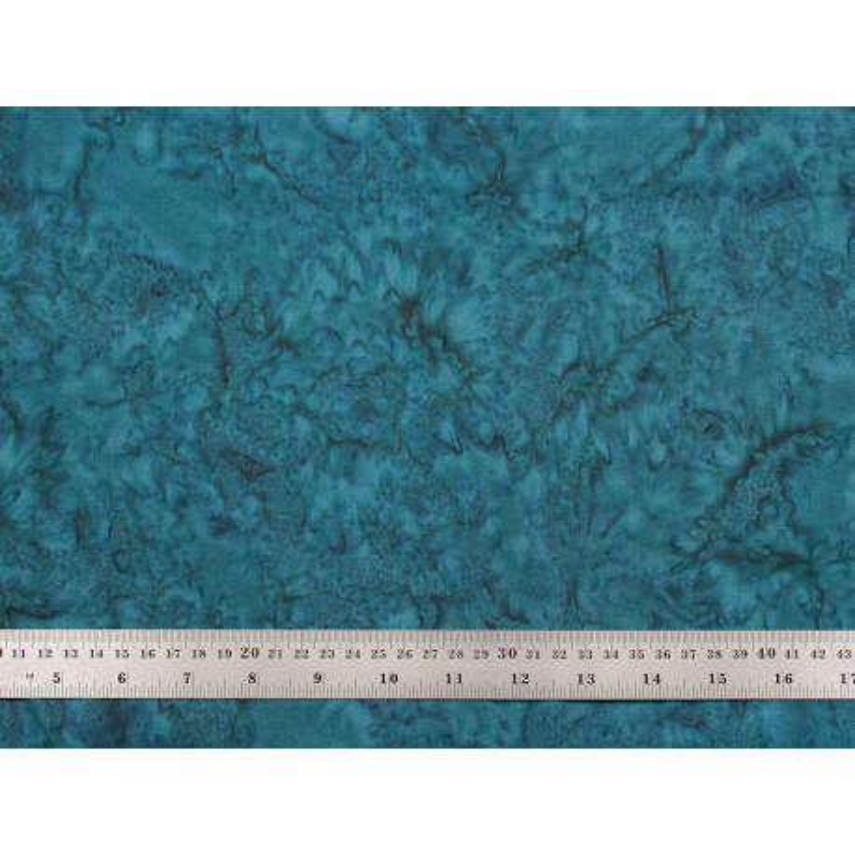 Tissu patchwork batik faux uni bleu pétrole