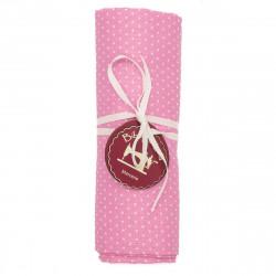 Coupon tissu Petits Pois rose bonbon