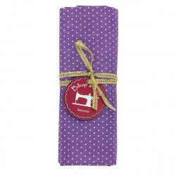Coupon tissu Petits Pois violet