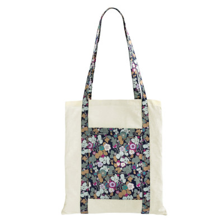 Tote bag sac coton imprimé fleurs