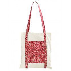 Tote bag sac coton imprimé rouge