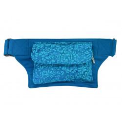 Sac banane tissu bleu turquoise
