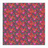 Jersey de coton rouge et fleurs bio Odile Bailloeul