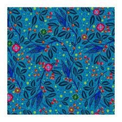 Jersey de coton Merle bleu