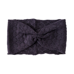Bandeau headband sixties laine gris foncé ardoise