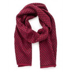 Echarpe laine rose framboise