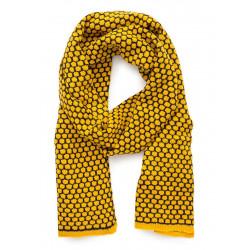 Echarpe laine jaune moutarde