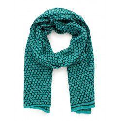 Echarpe laine bleu turquoise