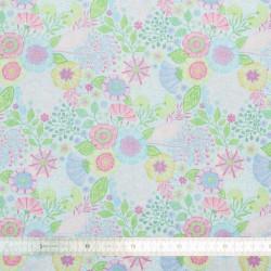 Tissu coton Ella Blue
