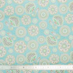 Tissu coton Atlantide blue