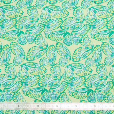 Tissu coton Green Butterfly
