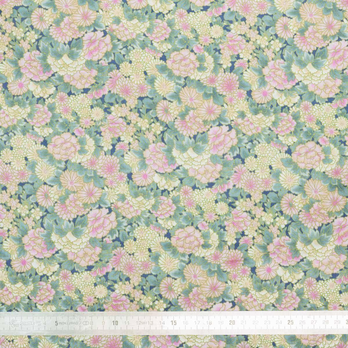 Tissu coton Isumi Framboise
