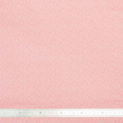 Tissu coton Mini Leaves rose