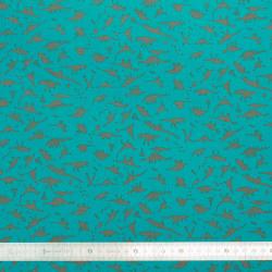 Tissu coton Dino Blue