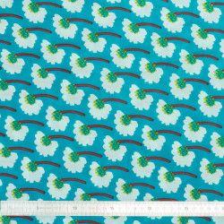 Tissu coton Azur