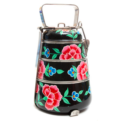 Lunch box inox peinte à la main Edira black