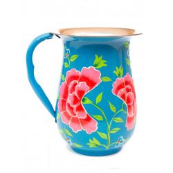 Carafe inox peinte à la main Edira blue