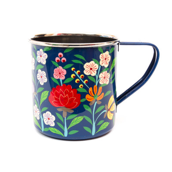 Tasse inox peinte à la main Charanka