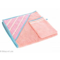 Le Carré de bain Célestine rose