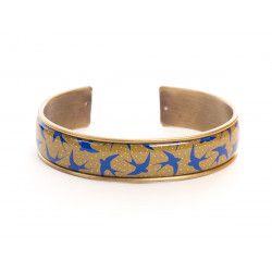 Manchette, bracelet, résine, motif Hirondelle