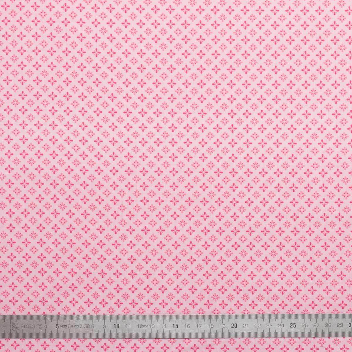 Tissu coton Motifs roses
