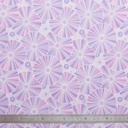 Tissu coton Rosalie mauve
