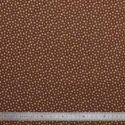 Tissu coton Etoilé marron