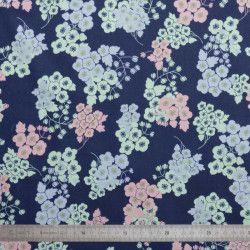 Tissu coton Flores
