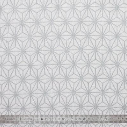 Tissu coton Asanoha argent