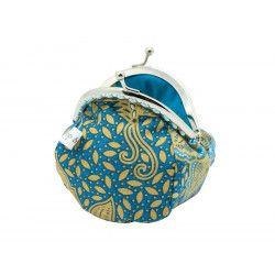 Petit porte-monnaie bourse rétro Blue seeds