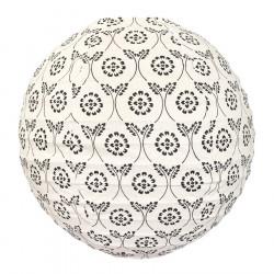 Lampion tissu boule japonaise rond Black Tinta