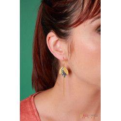 SUZANNE boucles d'oreilles Rosace noir
