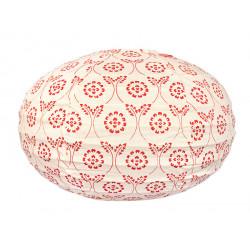 Lampion tissu boule japonaise ovale Red Tinta