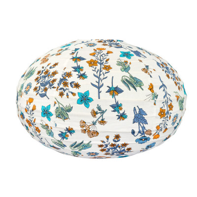 Lampion tissu boule japonaise ovale Yellow Spring