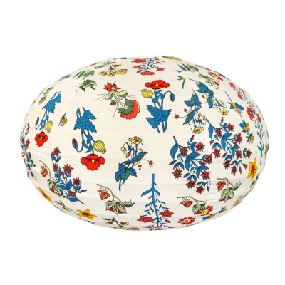 Lampion tissu boule japonaise ovale Red Spring