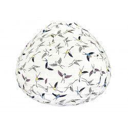Lampion tissu boule japonaise goutte Hiondelles