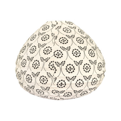 Lampion tissu boule japonaise goutte Black Tinta