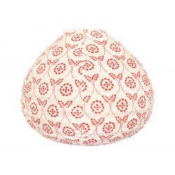 Lampion tissu boule japonaise goutte Red Tinta
