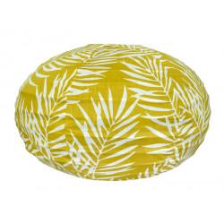 Lampion tissu boule japonaise ovale Fougère