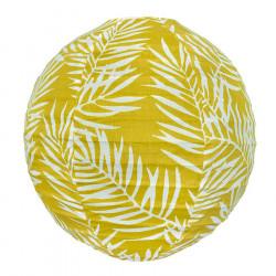 Lampion tissu boule japonaise rond Fougère