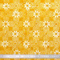 Coton Batik Estrella moutarde