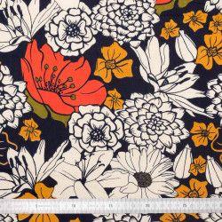 Tissu coton Blooming