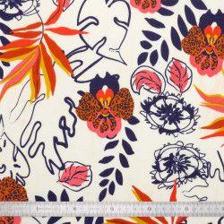 Voile de coton Orchidée