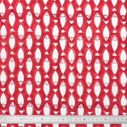 Tissu coton Poissons rouges