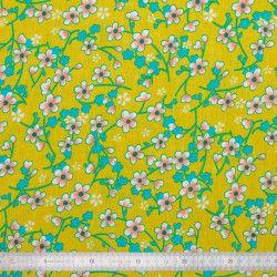 Tissu coton Akiko jaune